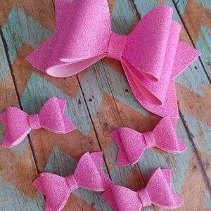 Other - Water resistant pink hair bows